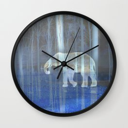 Moonlight with elephant Wall Clock