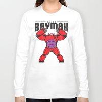 8bit Long Sleeve T-shirts featuring BAYMAX (8BIT) by Akiwa