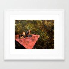 Pink Wall Framed Art Print