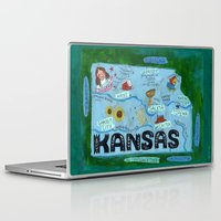 kansas Laptop & iPad Skins featuring KANSAS by Christiane Engel
