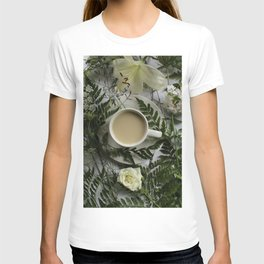 Flowers and Coffee T-shirt