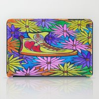 sneaker iPad Cases featuring SNEAKER OF PEACE AND LOVE by Manuel Estrela 113 Art Miami