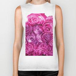 Pink roses Biker Tank