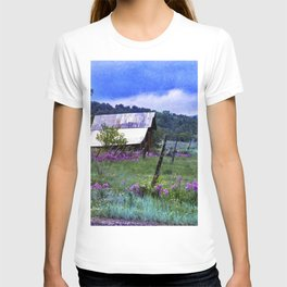 Purple Dames Rocket Ranch Saturated by CheyAnne Sexton T-shirt