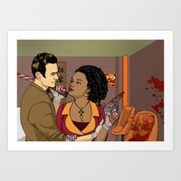 Christmas Baby and the King of Spades Art Print