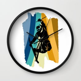 Ski Colorful Skiing Cool Winter Sports Gift Wall Clock