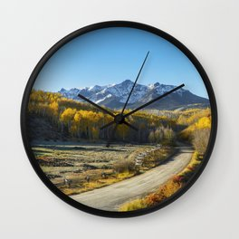 Morning on the San Juans Wall Clock