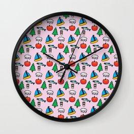Pacific NW Print Wall Clock