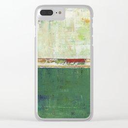 Limerick Irish Ireland Abstract Green Modern Art Landscape Clear iPhone Case