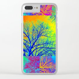 Rainbow Trees Clear iPhone Case