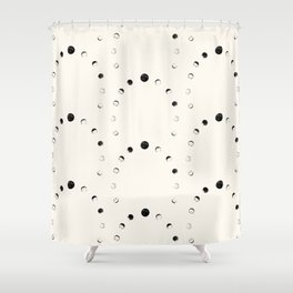 Moon Phase Pattern Shower Curtain