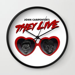 Love They Live Wall Clock