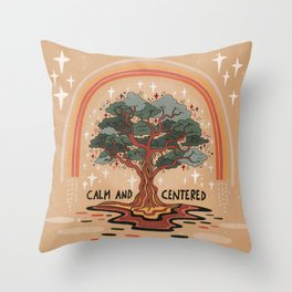 Calm and centered Throw Pillow