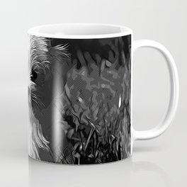 maltese dog vector art black white Coffee Mug