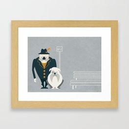 Mr. Mustachio Framed Art Print