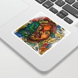 rapper,lyric,smoke,wall art,fan art,music,hiphop,rap,rapper,legend,shirt,print,chancee Sticker