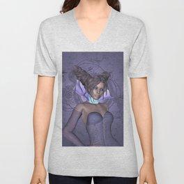 The dream of purple Unisex V-Neck