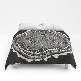 Growth Rings – 65 Years – Black Comforters
