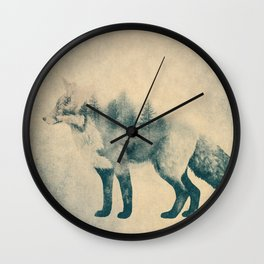 Fox and Forest - Shrinking Forest Wall Clock