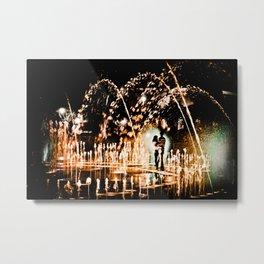 Romance in Water Metal Print
