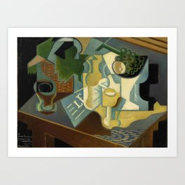 "Juan Gris ""La table devant le bâtiment"" Art Print"