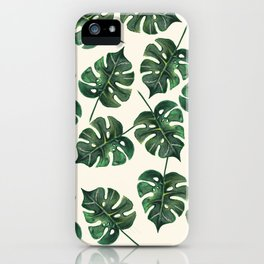 ► Monstera Deliciosa | Green Addict | (leaf pattern) iPhone Case
