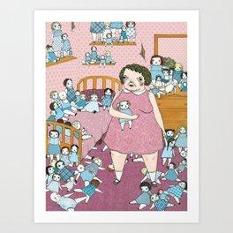 Doll Hoarder Art Print
