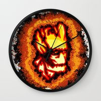 groot Wall Clocks featuring Groot  by grapeloverarts