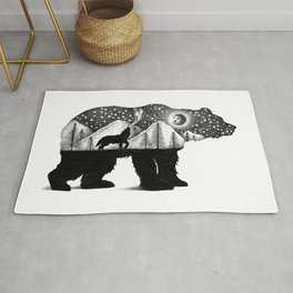 THE BEAR AND THE WOLF Rug