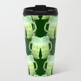 Two St-Patrick's Day green beers Travel Mug