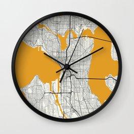 Seattle map Wall Clock