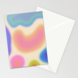 Funky Clouds (Dreamy Abstract Art) Stationery Cards