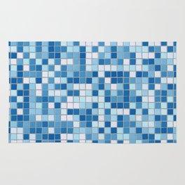 Blue Pool Squares Rug