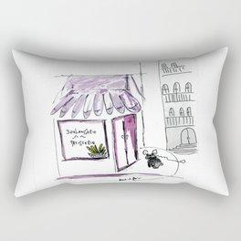 """""""Baguette love"""", french bulldog art by BoubouleArt Rectangular Pillow"""