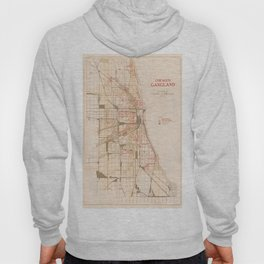 Map Of Chicago Gangs 1926 Hoody