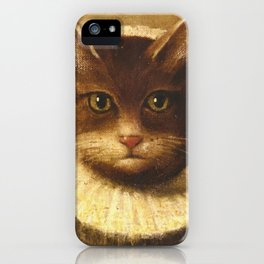 Cat In A Ruff Cute Victorian Art iPhone Case