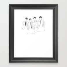 J&P&G&R - B/W Framed Art Print