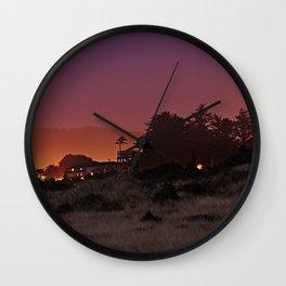 Gold Beach At Night Wall Clock