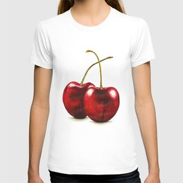 Cherries by Lars Furtwaengler | Ink Pen | 2011 T-shirt