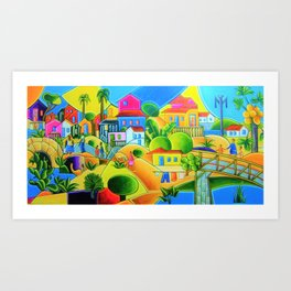 Morro da Favela by Tarsila do Amaral Art Print