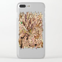 uncanny fuck-off Clear iPhone Case