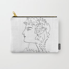 Profil de femme (Woman Side Face) Reproduction Sketch, Pablo Picasso Artwork, tshirt, tee, jersey, p Carry-All Pouch