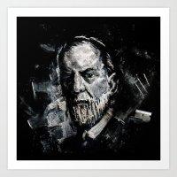 freud Art Prints featuring Freud by Ben Wiseman