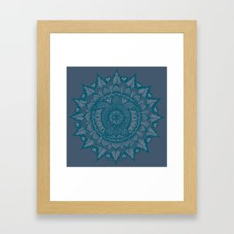 Turtle Mandala by Julie Oakes Framed Art Print