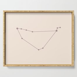 Capricorn Zodiac Constellation Neutral Rose Serving Tray