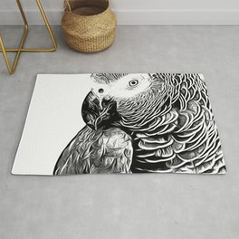 African Parrot Rug