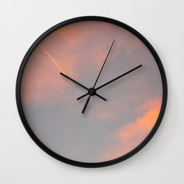 Contrail Clouds Wall Clock