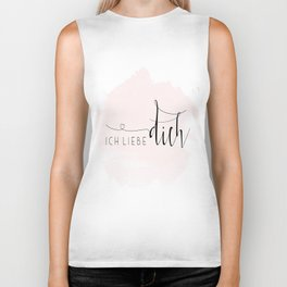 ICH LIEBE DICH,Love Quote,Love Gift,Boyfriend Gift,Gift For Couples,Anniversary Quote,Valentines Day Biker Tank