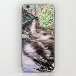 RIVER VIEW IN WONDERLAND - Original Fine art painting by HSIN LIN / HSIN LIN ART iPhone Skin