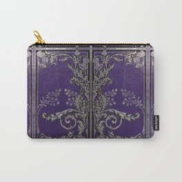 Blue and Silver Thistles Carry-All Pouch
